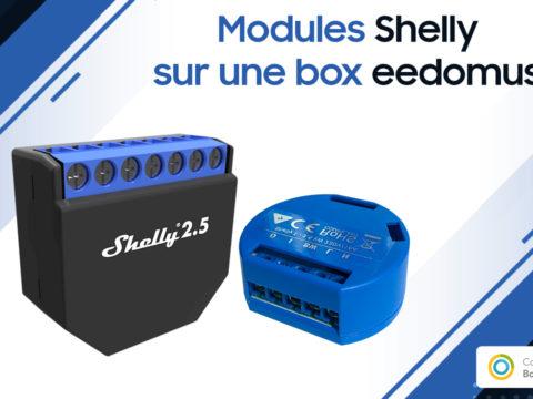 Contrôler vos appareils Shelly sur une box domotique eedomus