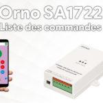 Orno SA 1722, guide d'installation et liste des commandes SMS