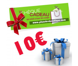 Chèque cadeau de 10 euros