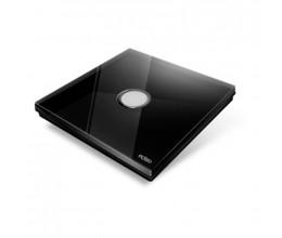 Interrupteur sans fil Edisio modèle Diamond Noir 1 touche avec base Noire