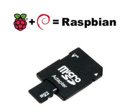Carte Micro SD 8Go (adaptateur inclus) avec système Raspbian Lite
