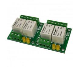 Carte relais pilotée en 12V - 2x 2 relais 230VAC