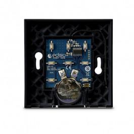Interrupteur sans fil Edisio modèle Elegance Noir 2 touches avec base Noire