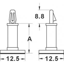 Entretoise Autocollante - 4.8mm - Diam. 3.2