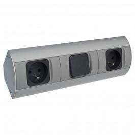 Face avant - Bloc multiprises 2x230V avec interrupteur
