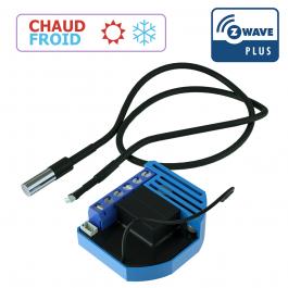 Module thermostat chaud et froid encastrable Z-Wave Plus avec sonde - QUBINO