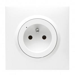 Prise Dooxie with Netatmo 16 A avec plaque Blanc