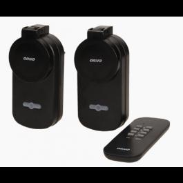 2 prises télécommandées pour extérieur avec télécommande 4 canaux