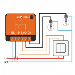 [RECONDITIONNÉ] Micromodule 2 relais enocean encastrable - NodOn