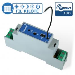 [RECONDITIONNÉ] Module rail DIN Fil Pilote Z-Wave Plus - Qubino