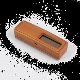 Sonde de température et hygrométire sans piles EnOcean bois foncé - Ubiwizz