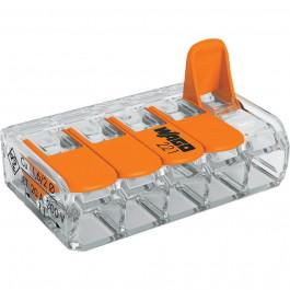 Lot de 25x borniers de raccordement rapide avec levier (5 bornes) - WAGO