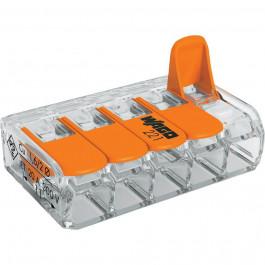 Bornier de raccordement rapide avec levier (5 bornes) - WAGO