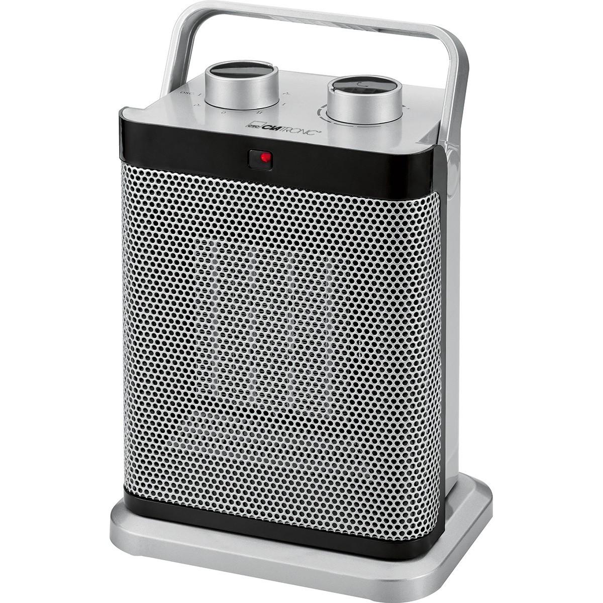 Radiateur Soufflant Consommation concernant radiateur soufflant et oscillant couleur argent - clatronic