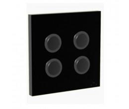 Interrupteur 868 MHz 4 canaux noir - DiO by Edisio