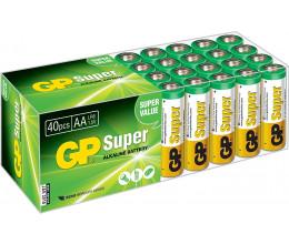 Lot de 40 piles AA alcalines LR06 - GP Super