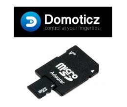 Carte Micro SD 8Go (adaptateur inclus) avec Domoticz Raspberry PI pré-installé