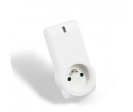 Prise connectée 16A avec protocole EnOcean et mesure de consommation - Ubiwizz